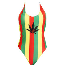купить Sexy One Piece Africa Rasta Monokini Swimsuit Swimwear US Size S M L XL XXL дешево