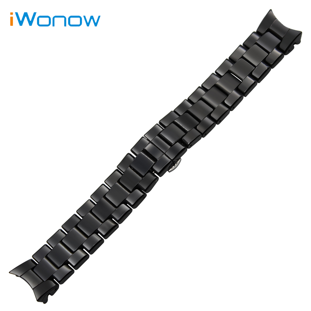Ceramic Watchband 18mm 22mm for AR1400 AR1405 AR1410 AR1417 AR1426 AR1442 AR1451 AR1452 AR1468 Wrist Strap Replacement Bracelet new 22mm white ceramic watch band strap bracelet replacement strap for ar1417 page 8