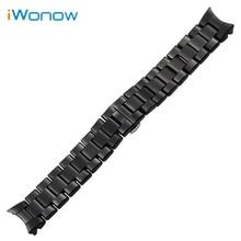 Ceramic Watchband 18mm 22mm for AR1400 AR1405 AR1410 AR1417 AR1426 AR1442 AR1451 AR1452 AR1468 Wrist Strap Replacement Bracelet