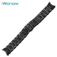 Ceramic Watchband 18mm 22mm For Armani AR1400 AR1405 AR1410 AR1417 AR1426 AR1442 AR1451 AR1452 AR1468 Wrist
