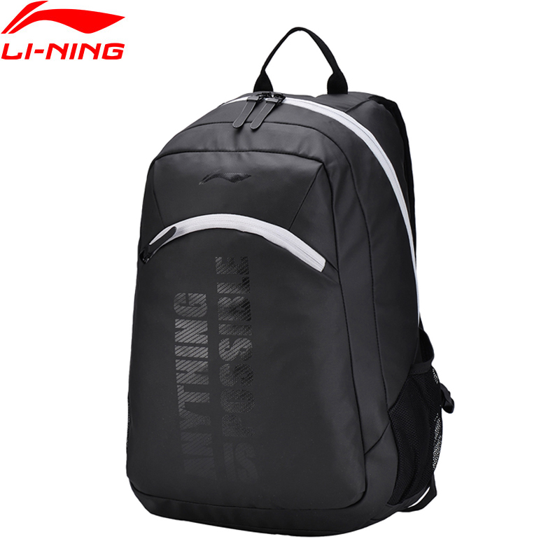 Li-Ning Unisex Backpack Polyester The Trend Classic Sports Life Bag Comfort Zip LiNing Sport Backpack ABSN058 BBF249 konkord classic comfort 140x195x18