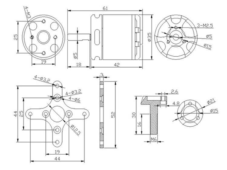 1 pcs sunnysky x2820 800kv 920kv 1100kv brushless motor for rc rh aliexpress com