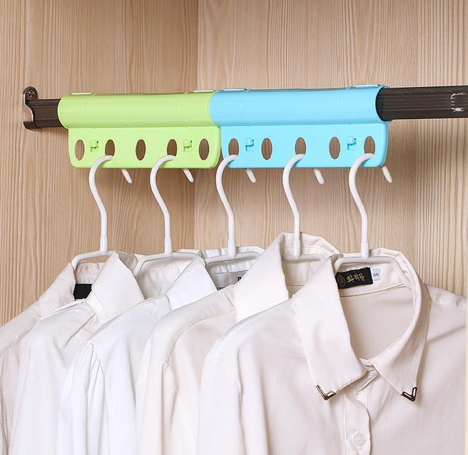 5 Holes For Hanging Clothes Creative Hanger Lock Anti Wind Anti Slip Hanger Rack With Fasten Buckle Pipe Shape 农夫 山泉