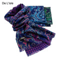 2016 Winter Fashion Top Quality Pure Wool Scarf Double Faced Paisley Printed Cashmere Shawl Pashmina Wraps - Factory Outlet