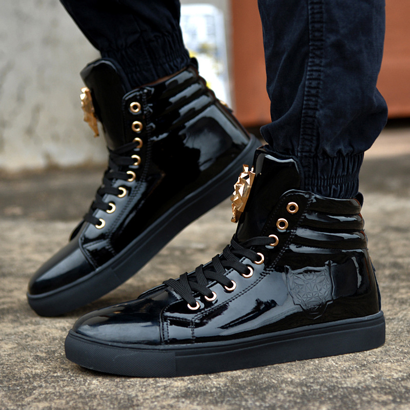 Aliexpress.com : Buy Leopard Sequined Skate Shoes For Men Ankle ...