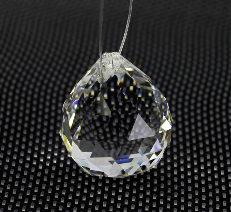 """FENG SHUI HANGING CRYSTAL BALL 1.25/"""" 30mm Choice of Colors Faceted Prism Sphere"""