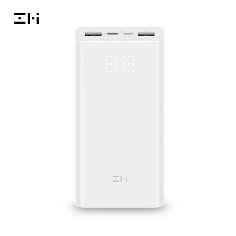 ZMI QB821 Banco de Potência 20000 mAh Display Digital de Energia 18w QC3.0 Rápido Carregamento Dual USB Powerbank 20000 mAh para smartphones
