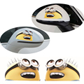 1Pair 3D PVC Material Minions Car Stickers Motorcycle Head Engine Cover Rearview Mirror Decoration Free Shipping