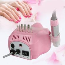 цена на Drill Nail Machine Pink 30000RPM Manicure Pedicure Tools Nail Polish File Machine Pen Kit Milling Cutter Drill Bits Footpedal