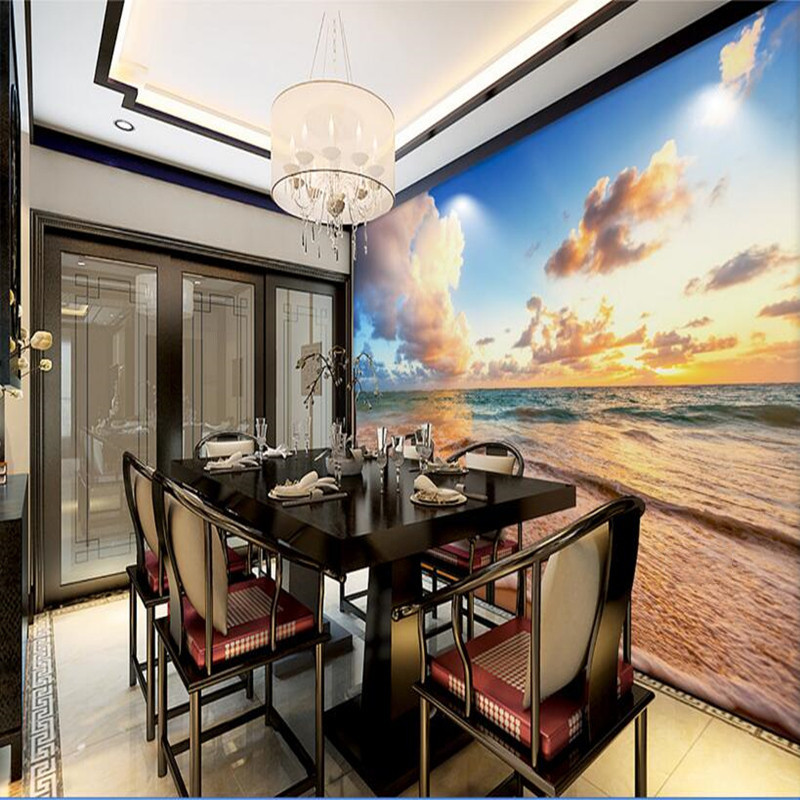 Custom Various Size HD Photo Wallpaper Sky Beach Landscape Mural 3D Wall Murals Scenery Background Wall Decoration Wallpaper 3D custom photo wallpaper natural scenery mangrove landscape custom wallpaper business hotel home decoration backdrop murals