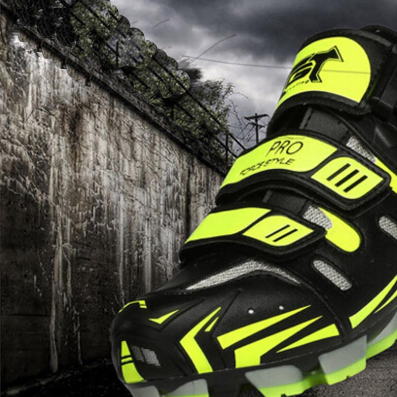 Professional Bicycle Cycling Shoes MTB Mountain Bike Self-Locking Shoes Men Women Nylon-fibreglass Sole Athletic Shoes
