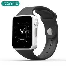 Itormis T50 Reloj Cámara tarjeta SIM TF Apoyo Reloj Inteligente Bluetooth Podómetro Smartwatch Para Android Smartphone