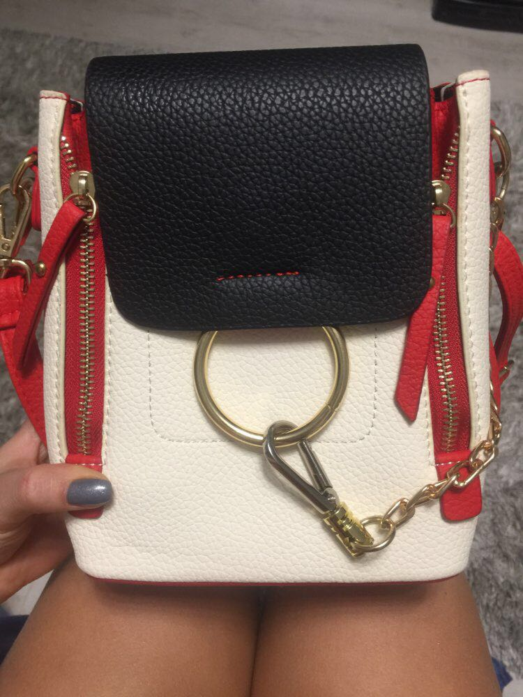HTB15A6.UMHqK1RjSZFEq6AGMXXaQ DORANMI Leather Women's Backpack Back Shoulder Bags 2019 Contrast Color Chain Rucksack Female Small Schoolbag Mochila Mujer B077