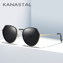 KANASTAL Polarized Sun Glasses Vintage Sunglasses Gradient Lens Fashion Eyewear Female Brand Girls Driving
