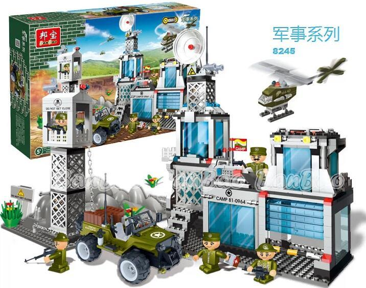 Bangbao Model building kits compatible with lego city military base army 753 3D blocks Educational toys hobbies for children model building kits compatible with lego city army 839 3d blocks educational model page 8