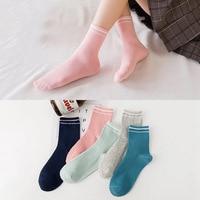 2018 10 Pieces Autumn And Winter Socks 100 Cotton Multiple Colors Socks Wholesale