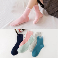 2018 10 Pieces Autumn And Winter Socks 100 Cotton Multiple Colors Socks Wholesale
