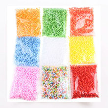 Polistirola putuplasta plastmasas putas Mini Beads Ball DIY Assorted Colors Rotā
