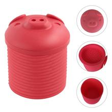 Cartoon Pig Shaped Fat Collector Innovative Silicone Bacon Leacher Box Free Grease Cooking Oil Storage