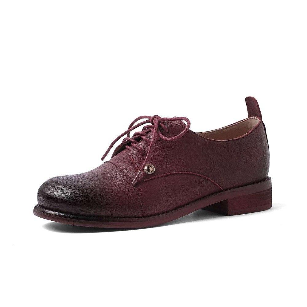Talons British Beige Rencontre Chaussures Faible Peu vin Toe Rouge De Noir School Parti Cuir 2019 Simple En Mouton L11 Up noir Classique Lace Et Rétro Pompes Femmes Carré Profonde x5wWqHIHAf