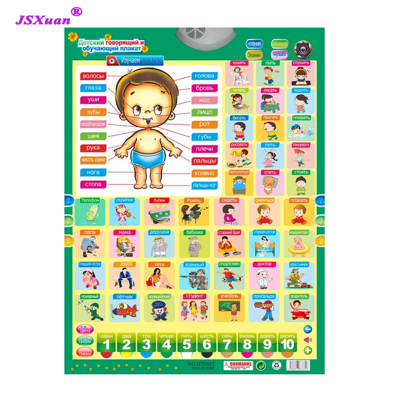 Russian Learning people Machine Electronic Baby Alphabet