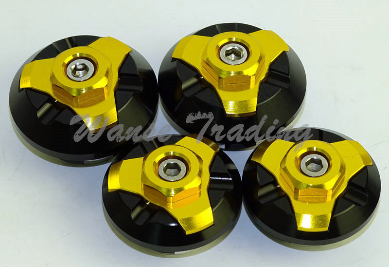 waase 4pcs CNC Frame Hole Cap Cover Plug Low & Up para Kawasaki Ninja - Accesorios y repuestos para motocicletas - foto 3