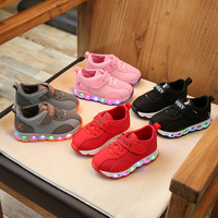 2017 New Fashion Cool LED Children Casual Shoes Shinning Lighting Glowing Kids Sneakers Casual Hot Sales
