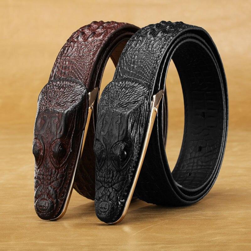 2018 nuevo cinturón de cocodrilo para hombre Cinturón de cocodrilo - Accesorios para la ropa - foto 3