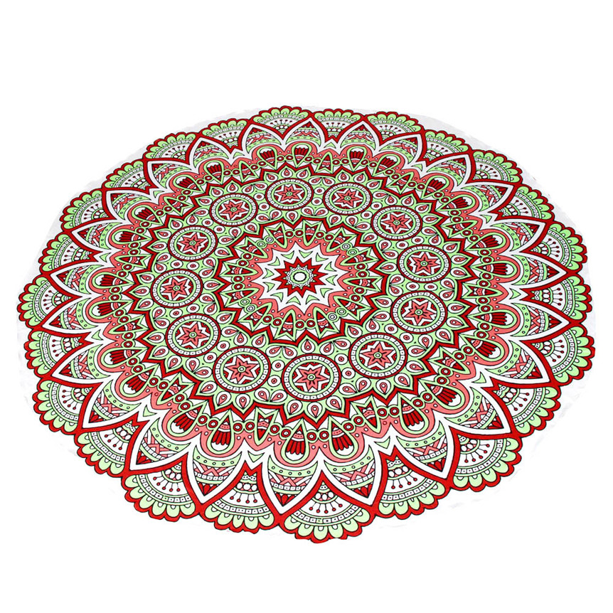 Lovely fashion Multifunction Round Beach Pool Home Shower Towel Blanket Table Cloth Yoga Mat hot sep5