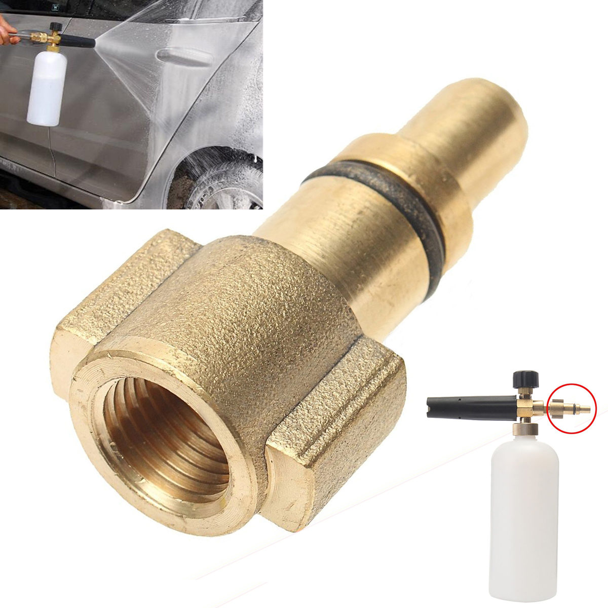 1/4 Female Car Pressure Washer Adapter Connector 3000PSI Mayitr Quick Connection Adaptor Fitting For Snow Foam Lance