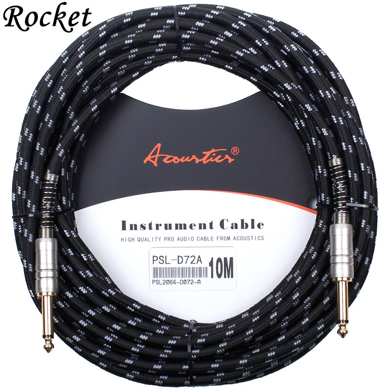 High quality 10M Electric Guitar Bass Cable Oxygen Free Copper connecting lines musical instrument connector wire Audio Cobles stupid casual stupid casual настольная игра капитан очевидность 2