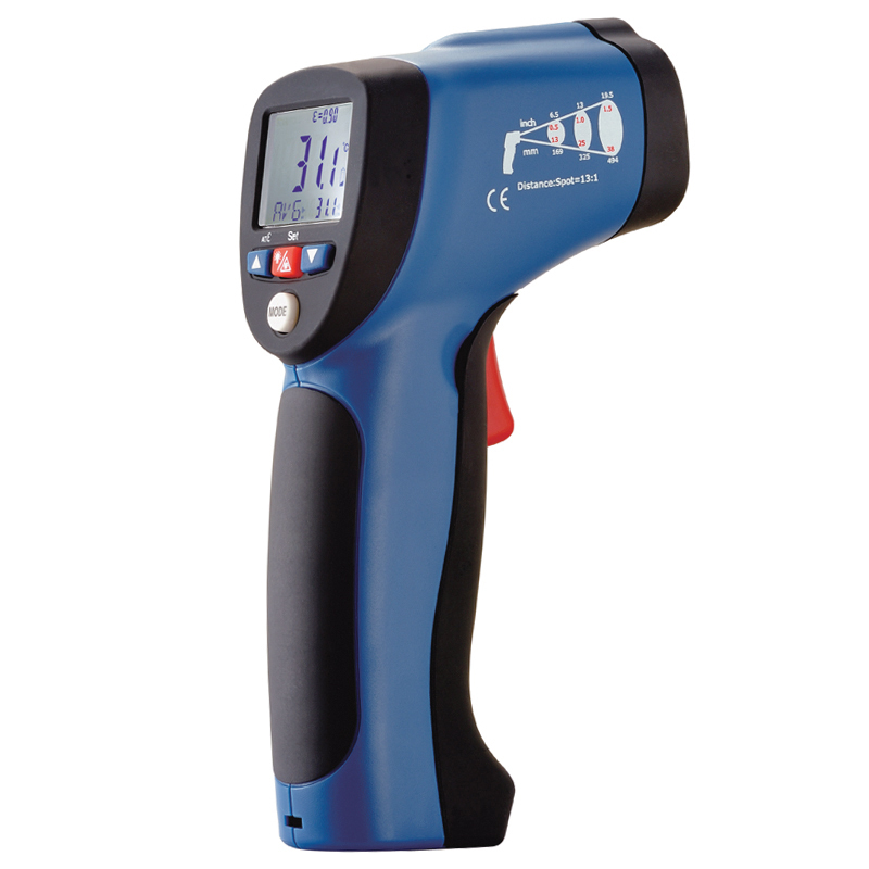 Infrared thermometer  laser thermometer industrial range -32-380C ir thermometer  DT-8830 tes 1326s industrial infrared thermometer 35 500c