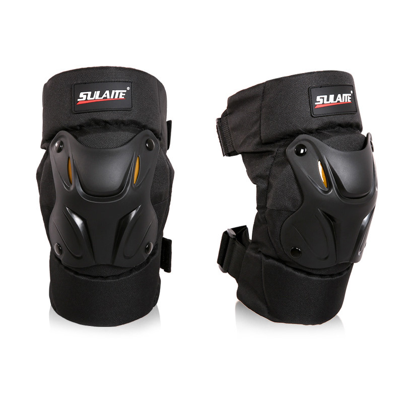 1 Pair Motorcycle Knee Protector Scooter Motor Sport Protective Knee Guards Safety Gears Road Motorbike Knee Pads Equipment