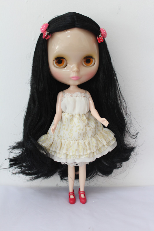 Free Shipping Transparent RBL-179T DIY Nude Blyth doll birthday gift for girl 4 colour big eyes with beautiful Hair cute toy купить