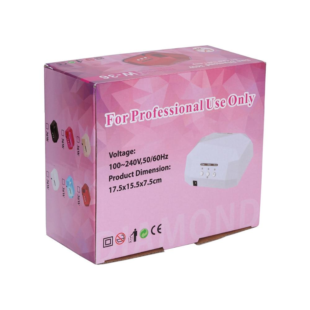 Zon 36 W Diamond Nail Droger Opgewaardeerd LEDUV Lamp Voor Nail Art ...