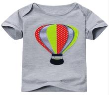 100% Cotton Children T-shirt  Boys T-shirt Summer Style Cartoon Short Sleeve T-shirt Parachute Printed Baby Boy Clothes