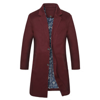 Fall 2016 New Men S Big Yards In The Men S Long Trench Coat The Fashion