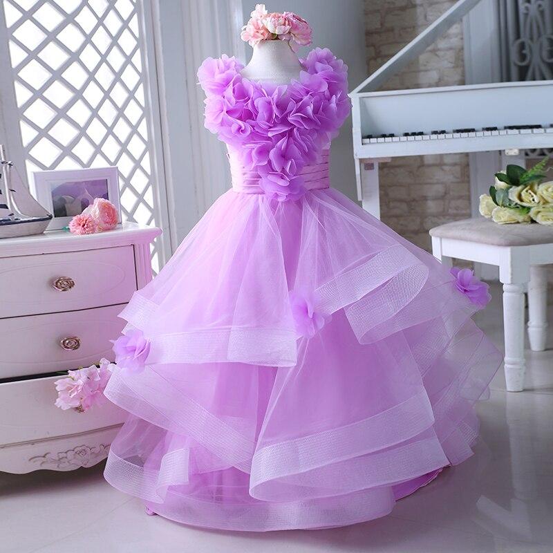 Excelente Pétalos De Color Rosa Vestidos De Dama De Honor Ornamento ...