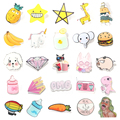 1 PC Pink Color Icons Kawaii Acrylic Badge Cartoon Pin Badges Bag Backpack Decoration Pins Icon