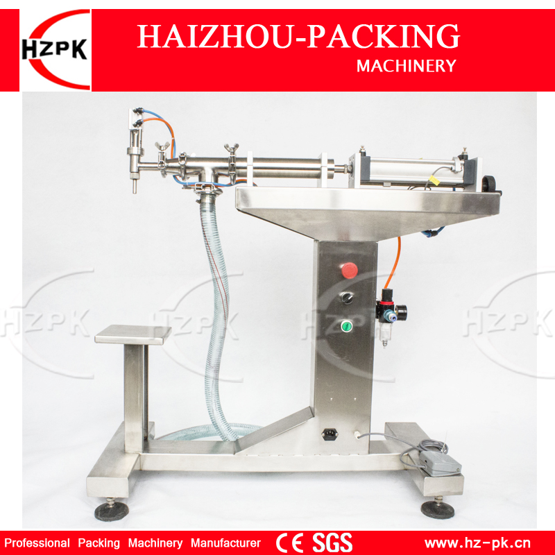 HZPK Vertical Single Head Water Filler Air Piston For Liquid Filling Machine Bottle Filler With Filling Nozzle 30-300ml G1LYD300 zonesun pneumatic a02 new manual filling machine 5 50ml for cream shampoo cosmetic liquid filler