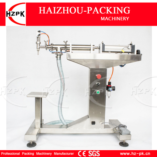 HZPK Vertical Single Head Water Filler Air Piston For Liquid Filling Machine Bottle Filler With Filling Nozzle 30-300ml G1LYD300