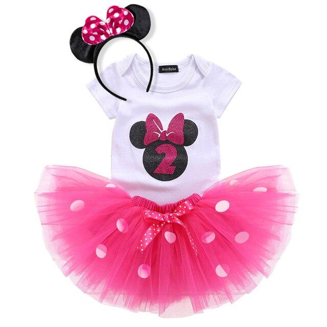 2 Jahre Baby Madchen Punkte Kleid 1st Geburtstag Outfit Phantasie