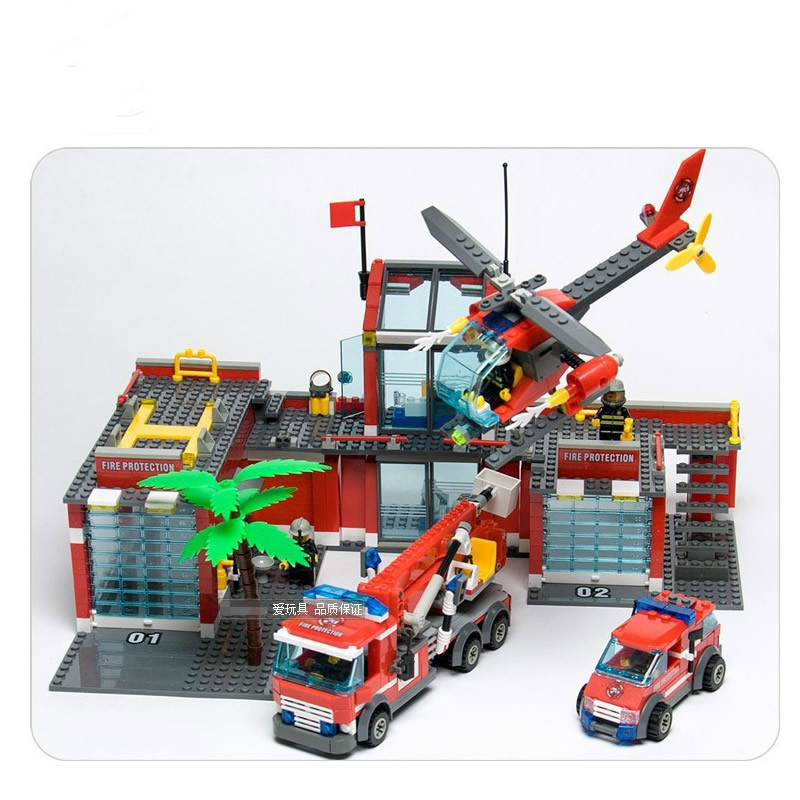 kaygoo NEW City Fire Station 774pcs/set Building Blocks DIY Educational Bricks Truck car plane Kids Toys Best Kids Xmas Gifts mylb new city fire station 774pcs set building blocks diy educational bricks kids toys compatible with legoe best kids xmas gift