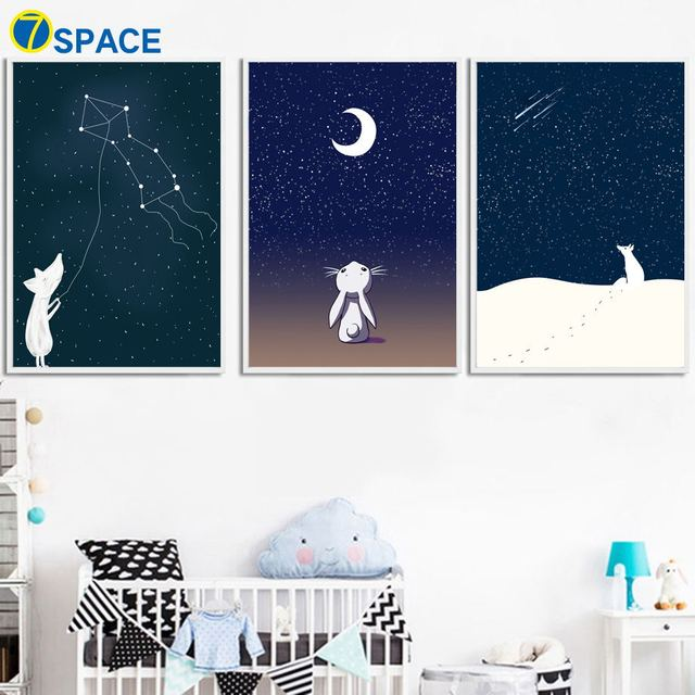 Moon Nordic Posters And Prints Wall