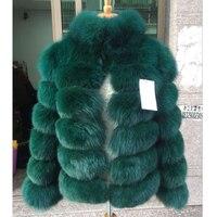 Women's Winter Jacket Whole Skin Leather Real Fur Fur Fox Coats 2016 Female Luxury Natural New Genuine Fur Waistcoats C66
