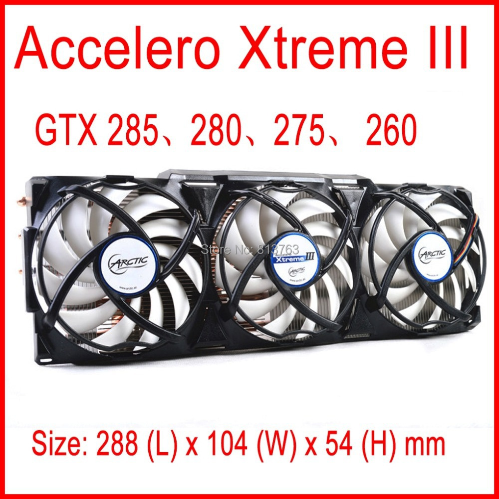 Accelero Xtreme III enfriador VGA 3 silencioso 92mm ventiladores PWM para AMD y nVidia GTX 285, 280, 275, 260 tarjeta de vídeo