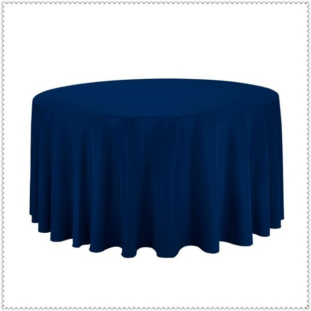 10pcs Table Cover Polyester 90 Round Navy Blue Luxury Party Dining