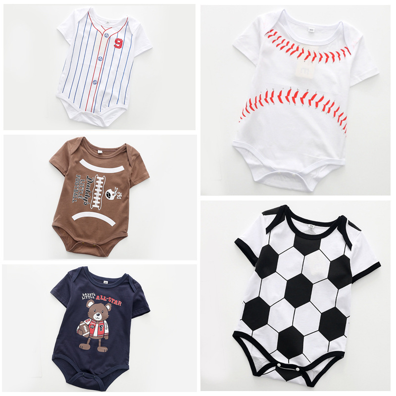 Summer Newborn Baby Clothing Short Sleeved Jumpsuit ...