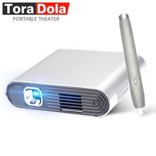 Тора Дола PH20, сенсорный DLP проектор с Стилус Android 7.0 WI-FI, Bluetooth 5400 мАч Батарея, HDMI, Портативный Театр, светодиодный ТВ