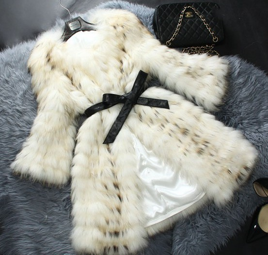2015 New genuine raccoon fur coat women long jacket winter quality outerwear DHL EMS F658 - K fashion show co.,Ltd store